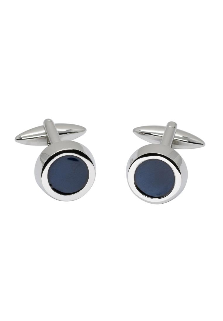 ETERNA 137 Manschettenknöpfe Metall silber/blau