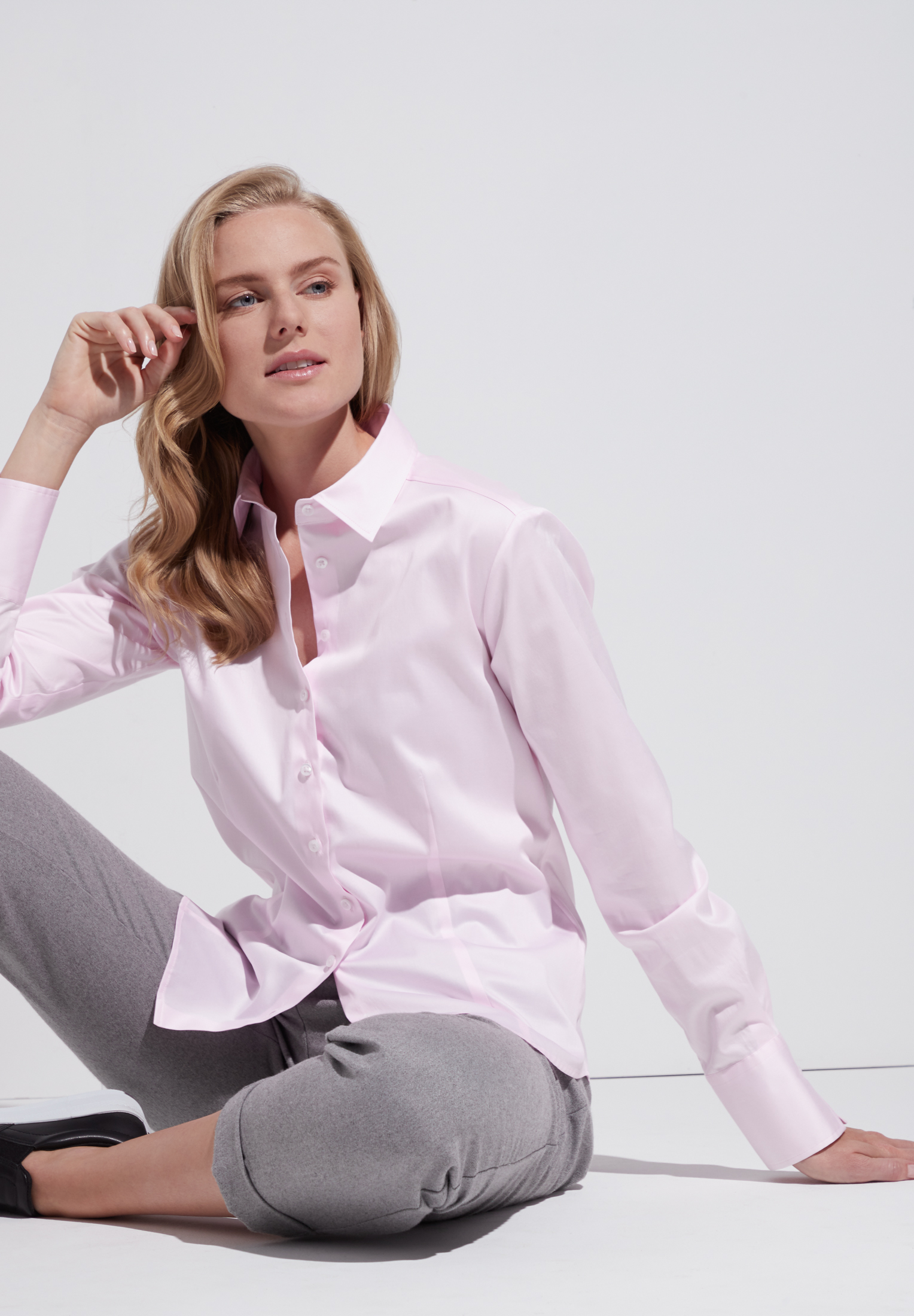 ETERNA 5352 Bluse Baumwolle, rosa