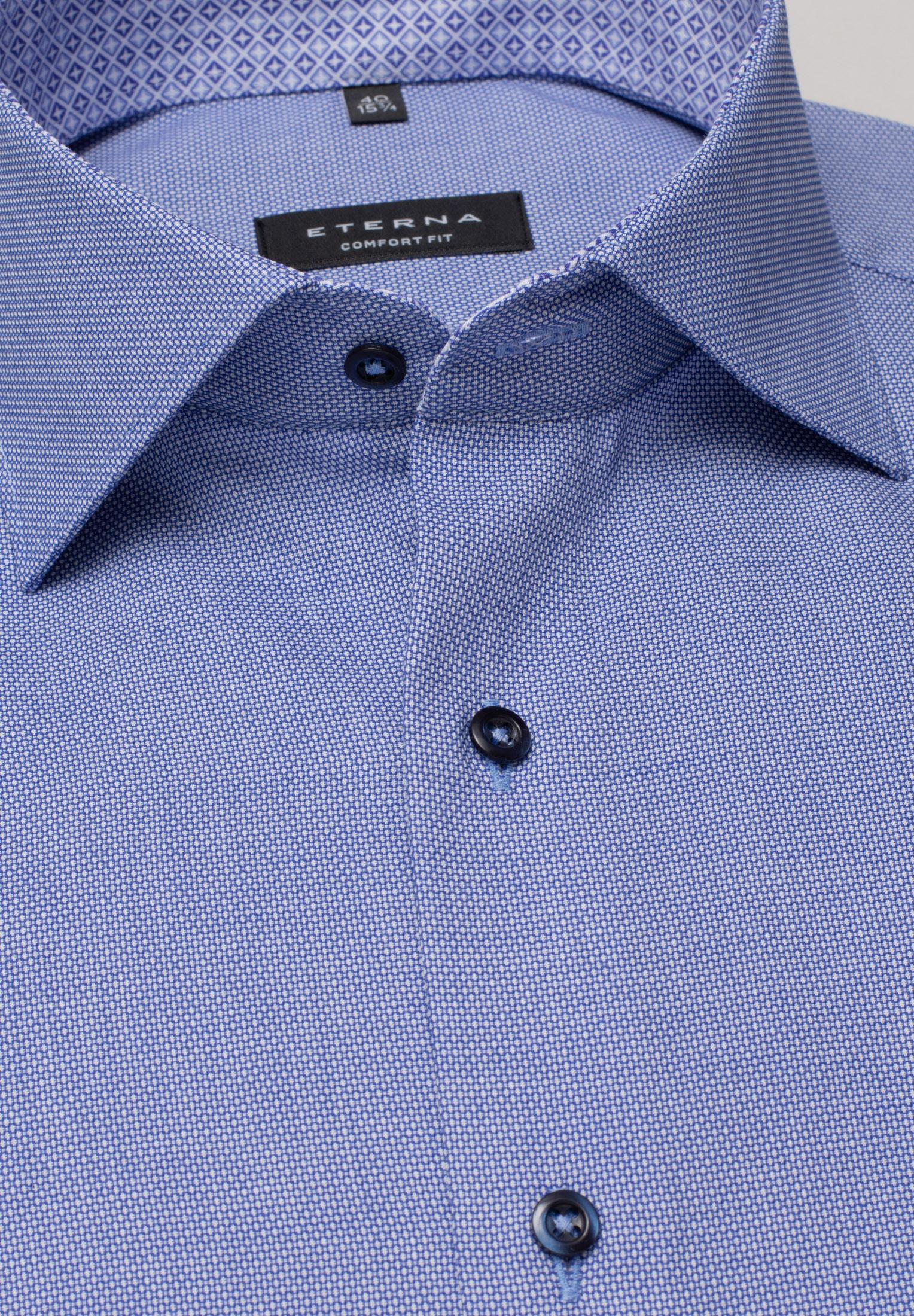 ETERNA 3270 Hemd Baumwolle blau Langarm