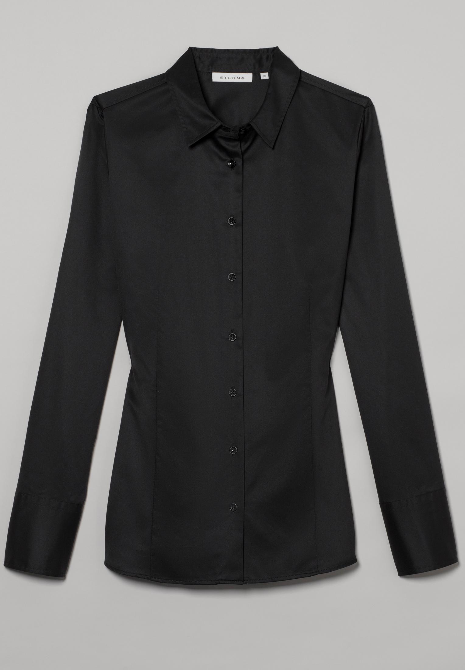 ETERNA 5008 Bluse Baumwolle schwarz