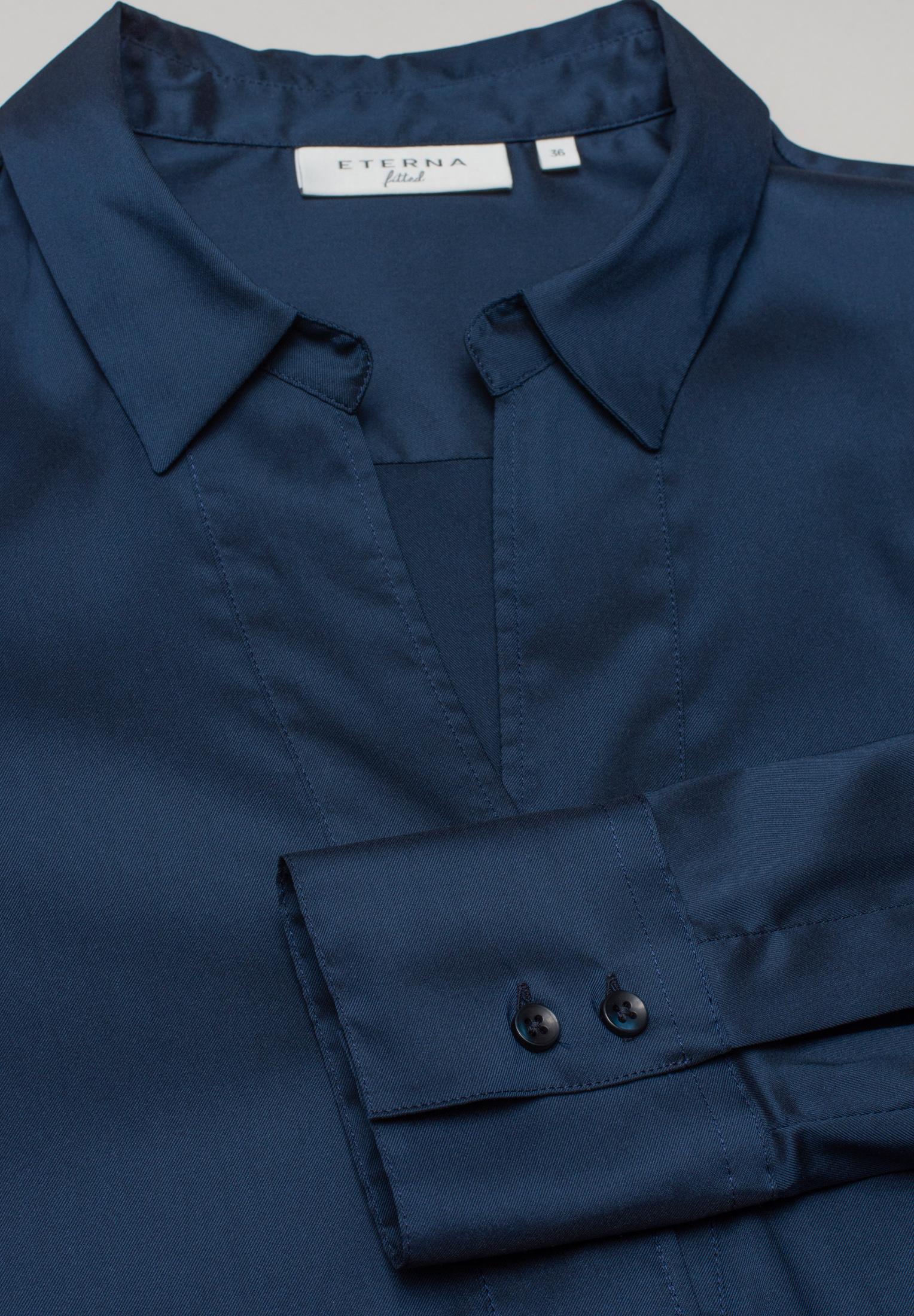 ETERNA 5377 Bluse Lyocell, dunkelblau